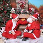 Foto natalazia della famiglia di Style 'n Travel: Cristina, Andrea e Molly