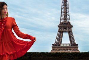Shooting con torre Eiffel sullo sfondo