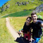 Andrea e Cristina selfie al lago chamole