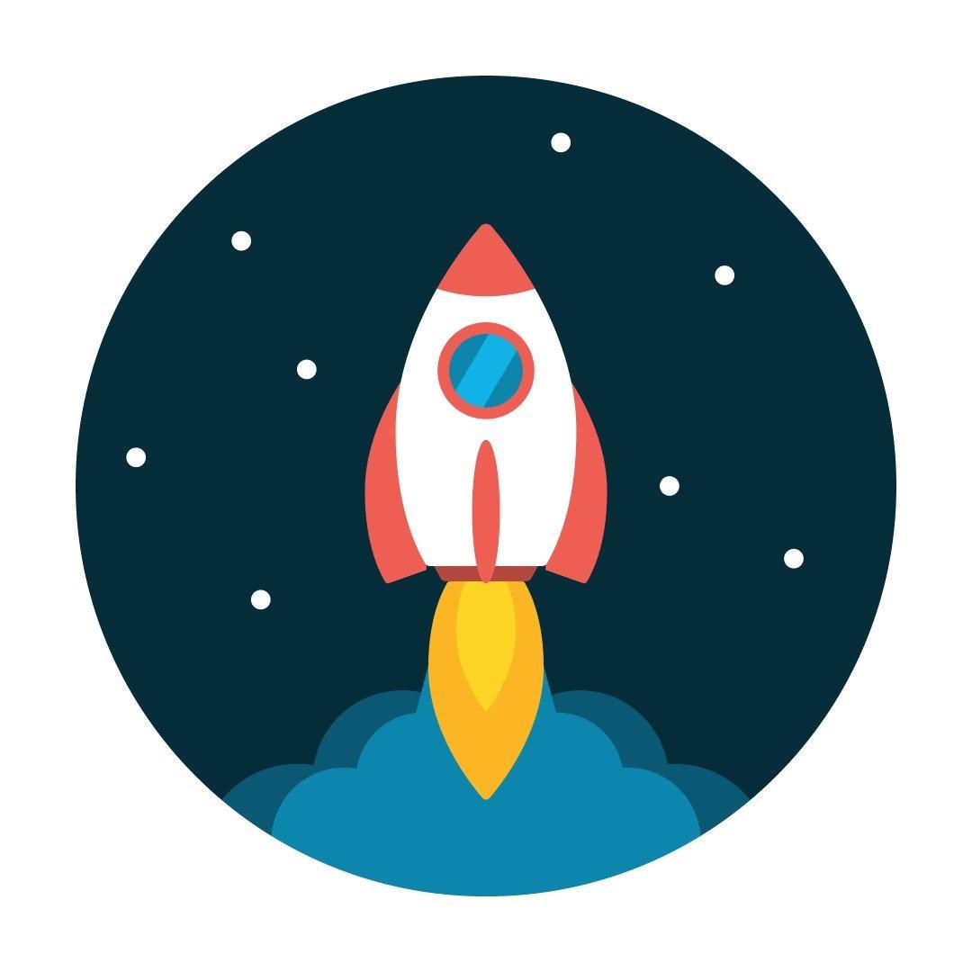 Icona Razzo crescita start-up