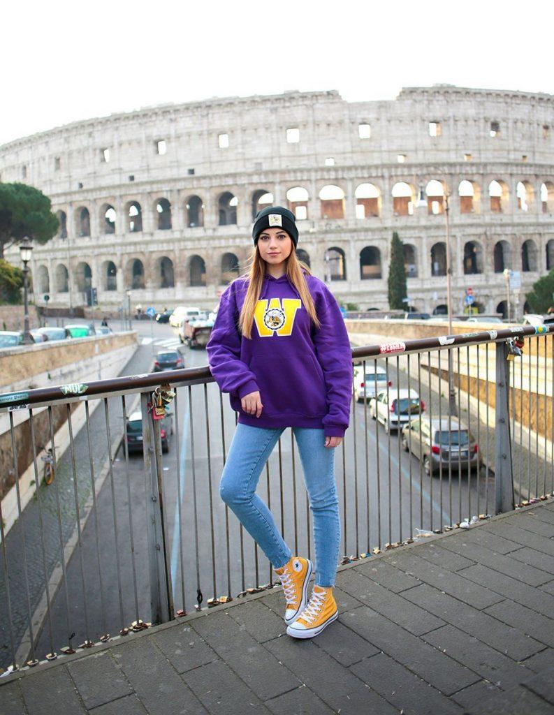 Cristina visita Roma