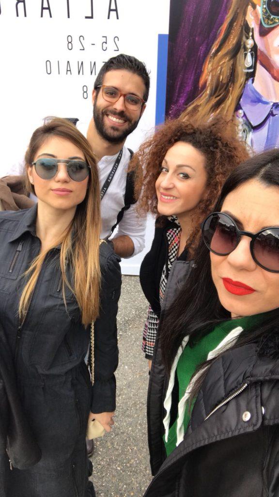 Selfie at AltaRoma fashion week