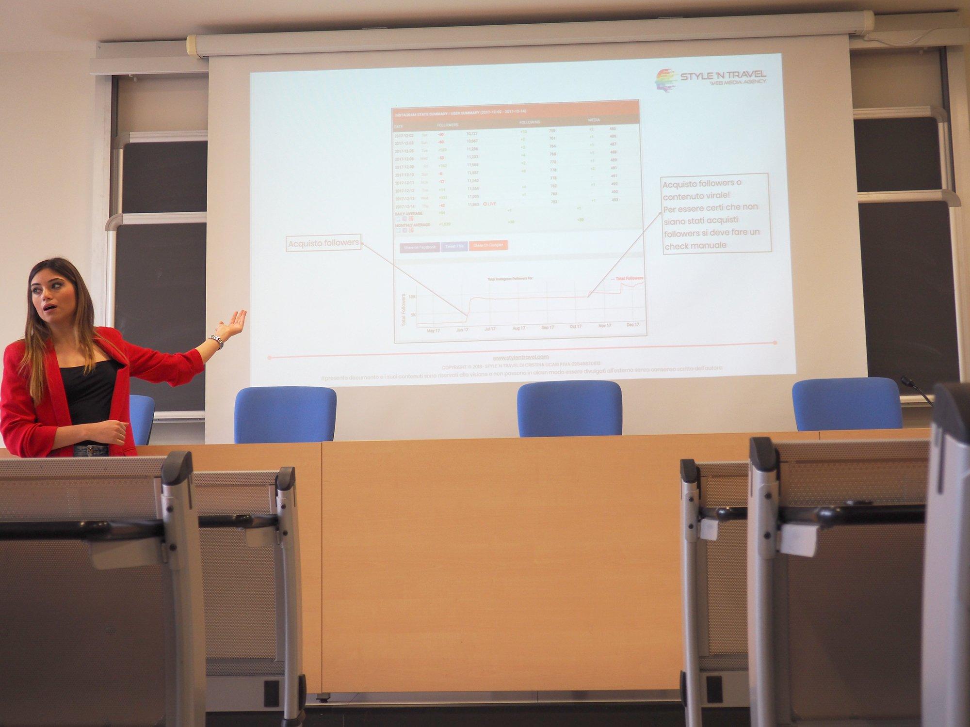 Cristina Licari all'univeristà di Pisa